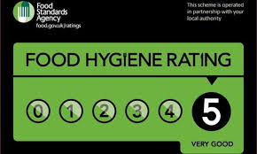 We have the top food hygiene rating